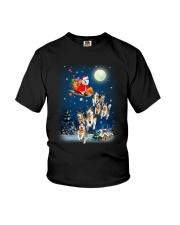 Dog And Santa Reindeer 0410 Youth T-Shirt thumbnail
