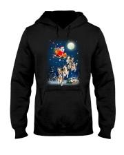 Dog And Santa Reindeer 0410 Hooded Sweatshirt thumbnail