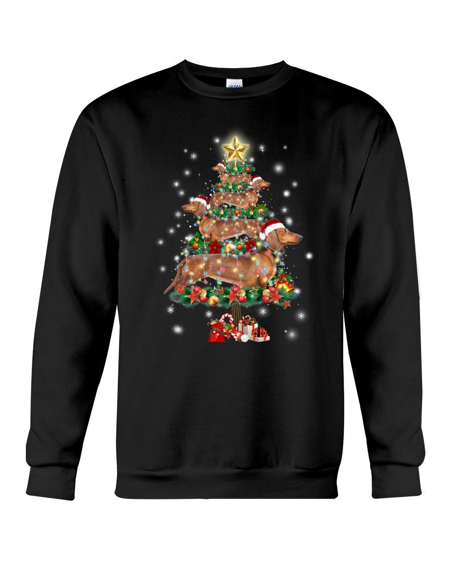 Dachshund and pine Crewneck Sweatshirt