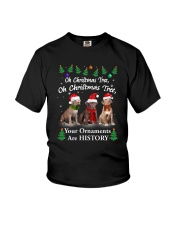Oh Christmas Tree American Pit Bull Terrier Youth T-Shirt thumbnail