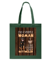 Rottweiler Simple Woman Mug 2201 Tote Bag thumbnail