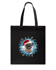Pug and snow flower Tote Bag thumbnail