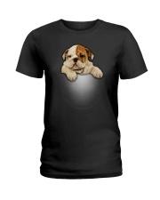 Bulldog Cute Ladies T-Shirt thumbnail
