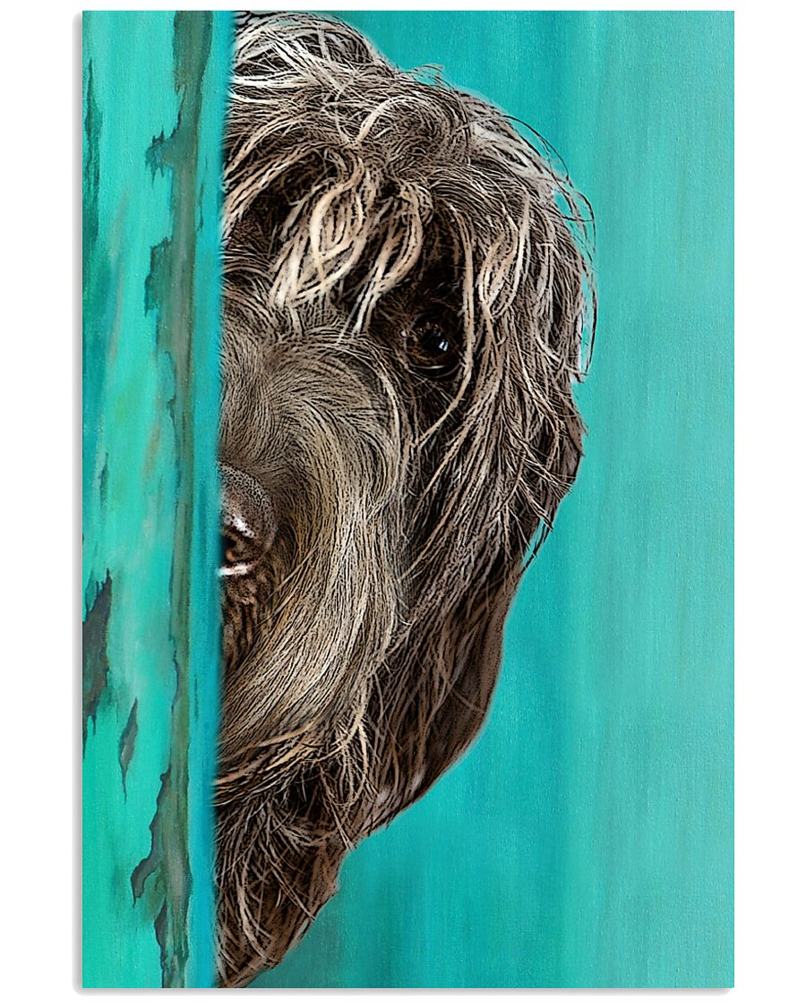 Wirehaired Pointing Griffon Half Face 11x17 Poster