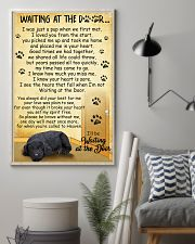 Standard Schnauzer Waiting at The Door 11x17 Poster lifestyle-poster-1