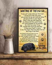Standard Schnauzer Waiting at The Door 11x17 Poster lifestyle-poster-3