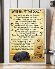 Standard Schnauzer Waiting at The Door 11x17 Poster lifestyle-poster-4