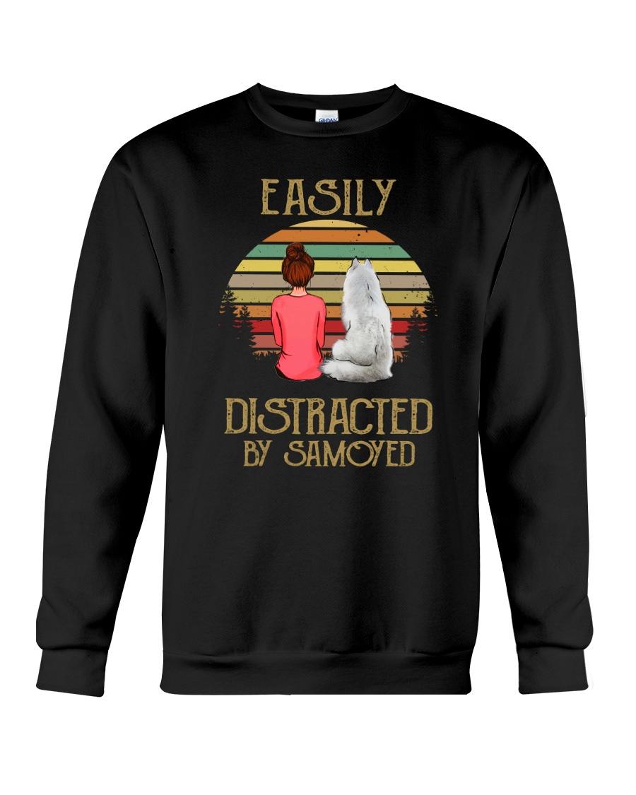 Samoyed Easily Distracted 1012 Crewneck Sweatshirt