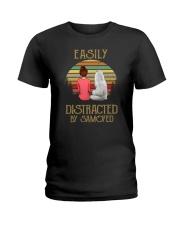 Samoyed Easily Distracted 1012 Ladies T-Shirt thumbnail
