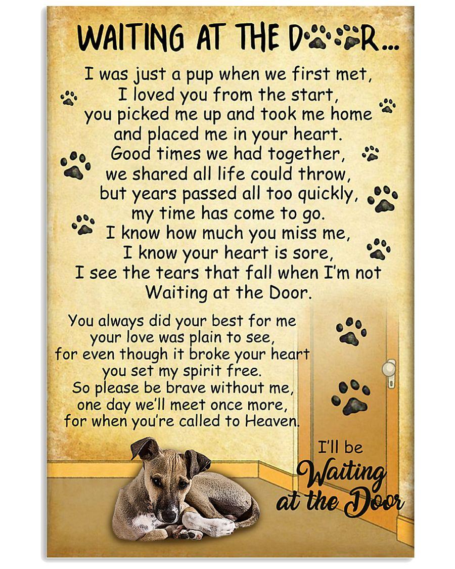 Italian Greyhound Waiting At The Door Poster 2301 11x17 Poster