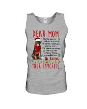 Rottweiler Mommy Christmas Unisex Tank thumbnail