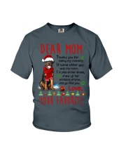 Rottweiler Mommy Christmas Youth T-Shirt thumbnail