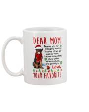 Rottweiler Mommy Christmas Mug back