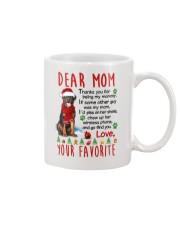 Rottweiler Mommy Christmas Mug front