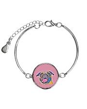 THEIA Pug Smile 1107 Metallic Circle Bracelet thumbnail