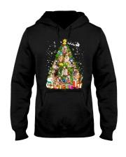 Bulldog Pine Tree  Hooded Sweatshirt front