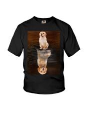 Golden Retriever Reflection Mug 1412 Youth T-Shirt thumbnail