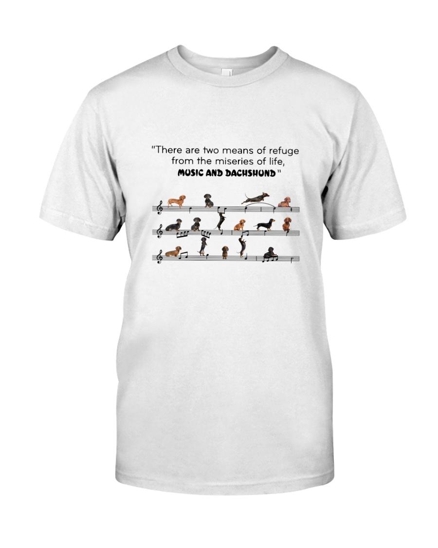 Music and Dachshund Classic T-Shirt