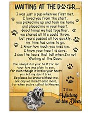 English Setter Waiting at The Door 11x17 Poster front