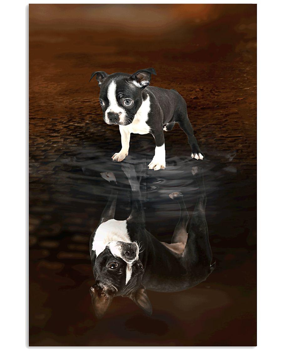 Boston Terrier Believe 11x17 Poster