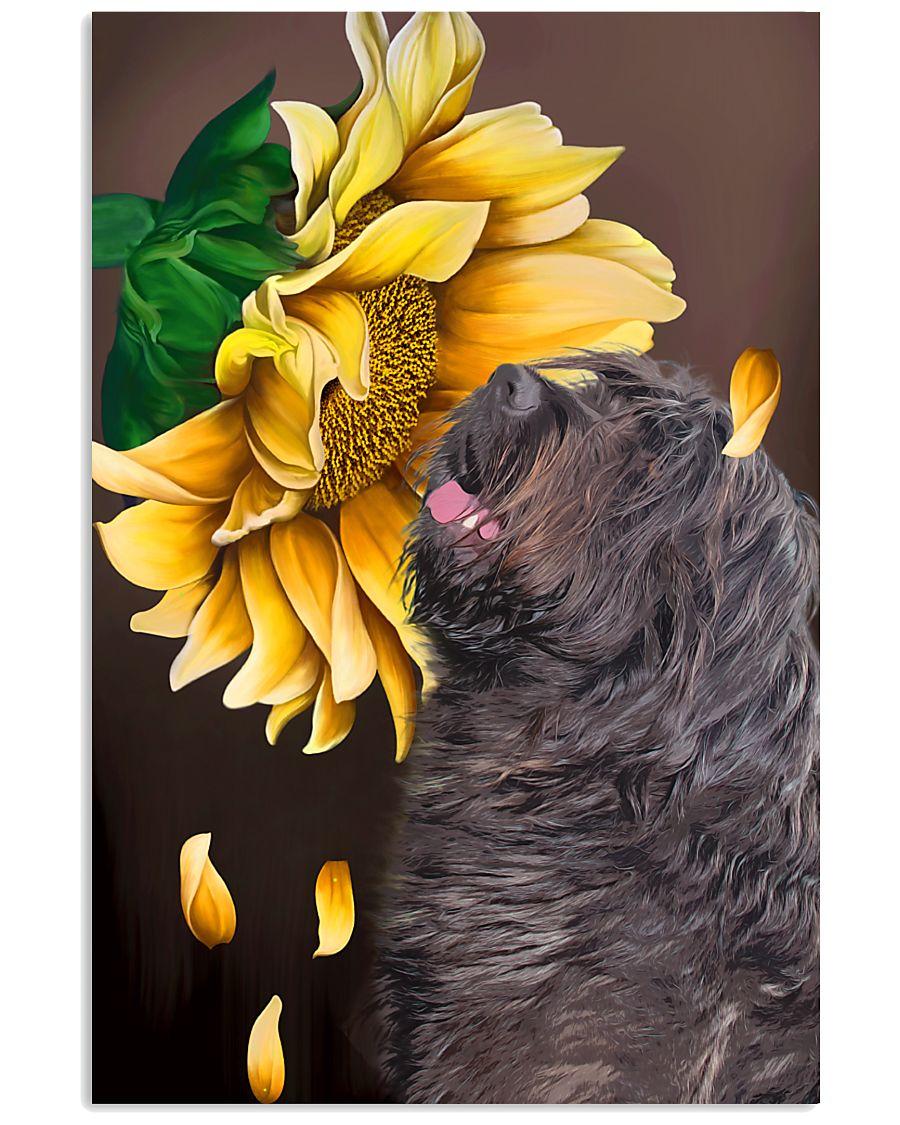 Bergamasco Shepherd Sunflower 11x17 Poster