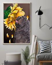 Bergamasco Shepherd Sunflower 11x17 Poster lifestyle-poster-1