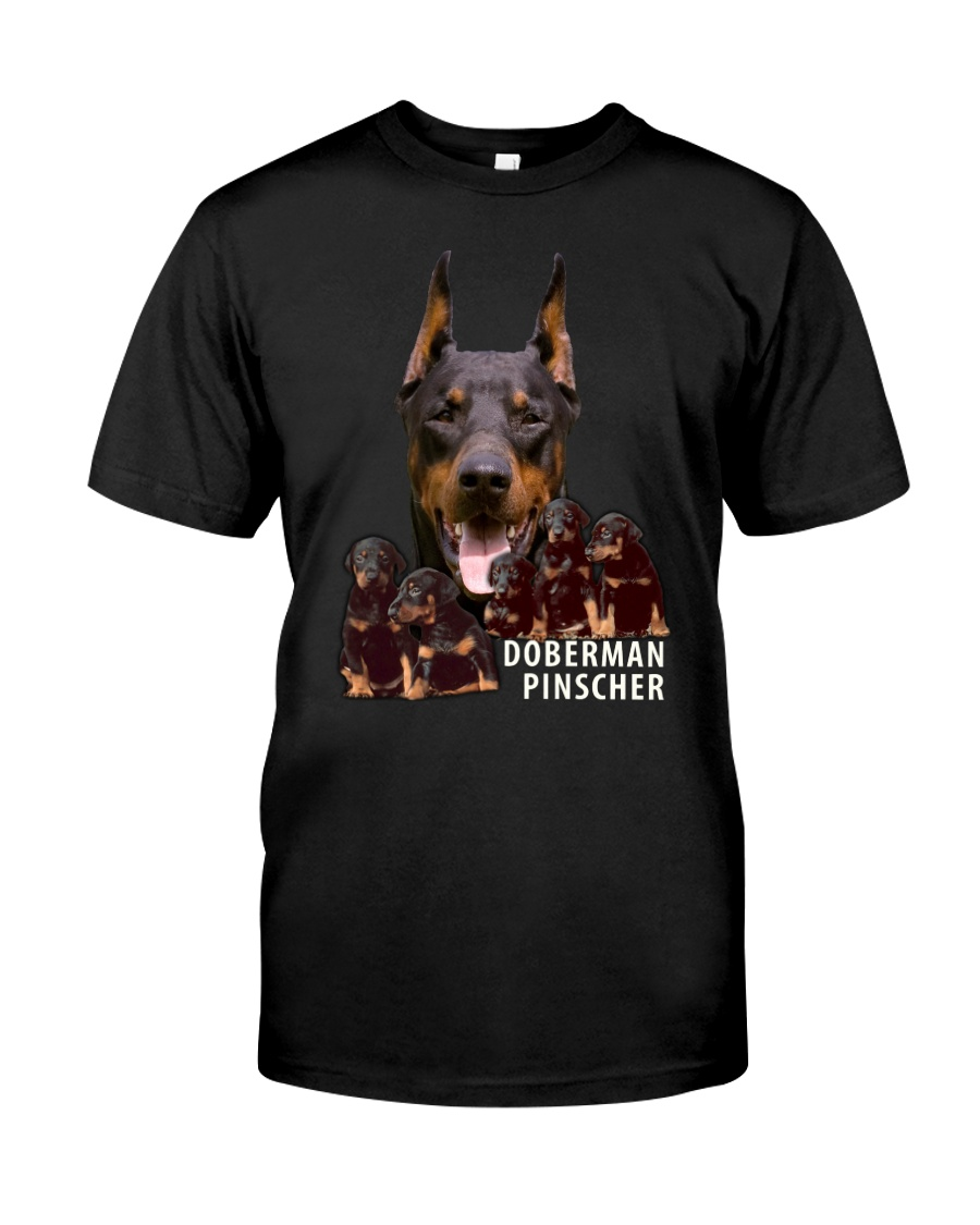 Doberman Pinscher Awesome Family 0701 Classic T-Shirt