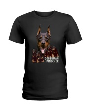 Doberman Pinscher Awesome Family 0701 Ladies T-Shirt thumbnail