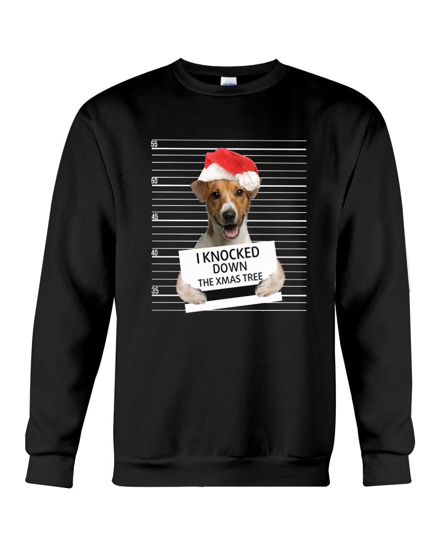 Jack Russell Terrier Knocked Down 0112 Crewneck Sweatshirt