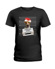 Jack Russell Terrier Knocked Down 0112 Ladies T-Shirt thumbnail