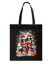 Border Collie Christmas Tote Bag thumbnail
