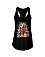 Border Collie Christmas Ladies Flowy Tank thumbnail