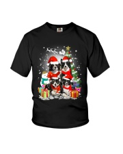 Border Collie Christmas Youth T-Shirt thumbnail
