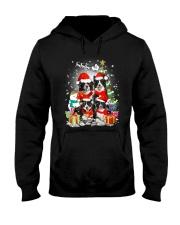 Border Collie Christmas Hooded Sweatshirt thumbnail