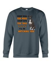 American Pit Bull Terrier I Will Be Watching 1401 Crewneck Sweatshirt thumbnail