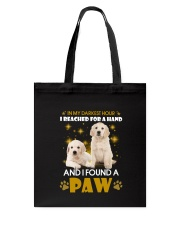 Golden Retriever paw Tote Bag thumbnail