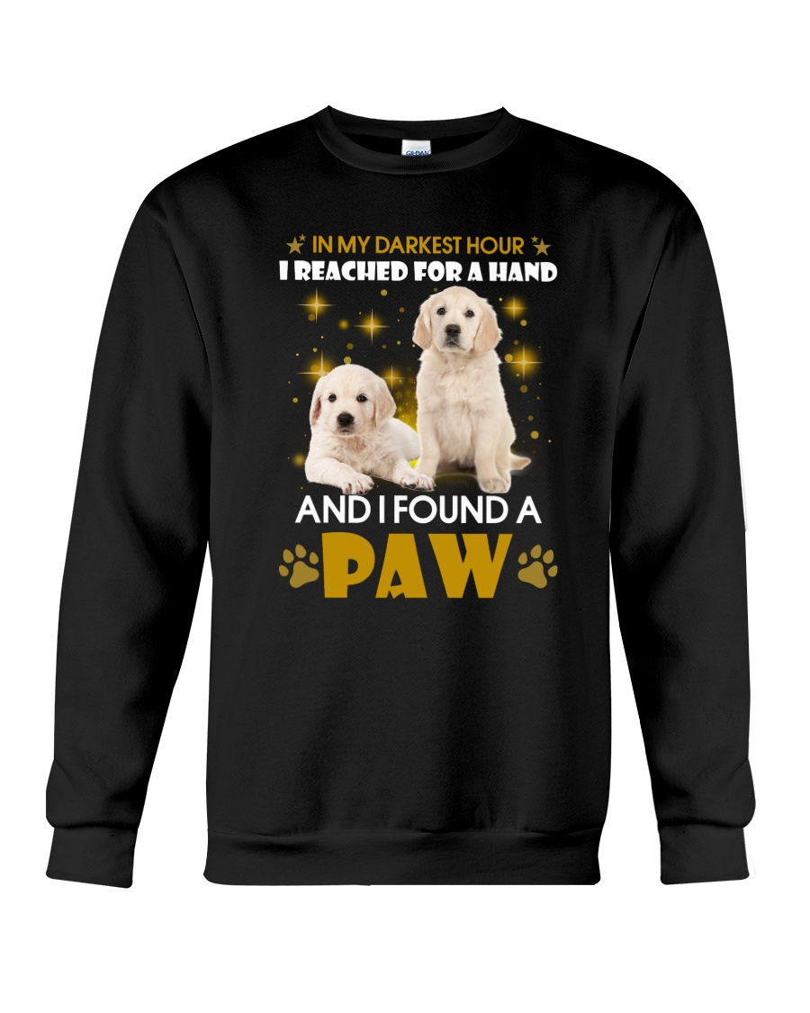 Golden Retriever paw Crewneck Sweatshirt