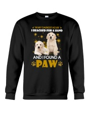 Golden Retriever paw Crewneck Sweatshirt front