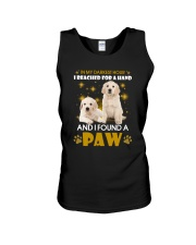 Golden Retriever paw Unisex Tank tile