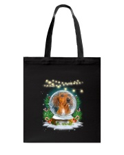 Dachshund and snowball Xmas Tote Bag tile