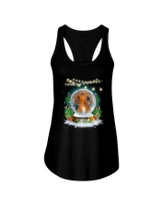Dachshund and snowball Xmas Ladies Flowy Tank tile
