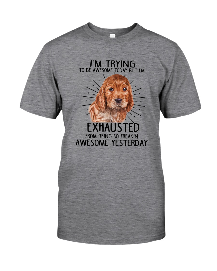 English Cocker Spaniel trying to be awesome 180319 Classic T-Shirt