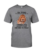 English Cocker Spaniel trying to be awesome 180319 Classic T-Shirt front