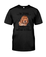 English Cocker Spaniel trying to be awesome 180319 Classic T-Shirt tile