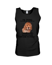 English Cocker Spaniel trying to be awesome 180319 Unisex Tank thumbnail