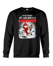 Jack Russell Terrier And Snowman  Crewneck Sweatshirt thumbnail