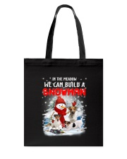 Jack Russell Terrier And Snowman  Tote Bag thumbnail