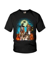 Gaea - Basset Hound Halloween - 1608 - 13 Youth T-Shirt thumbnail