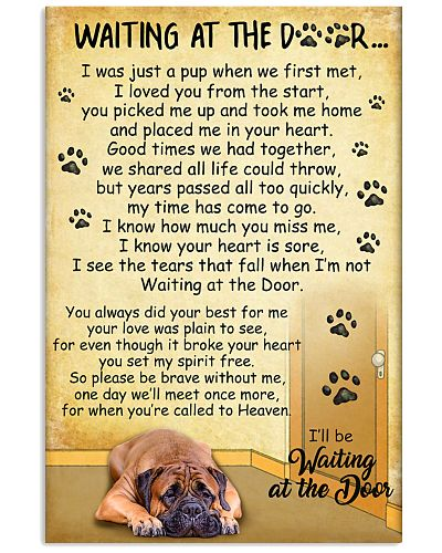 Bullmastiff Waiting At The Door Poster 2301
