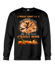 Basset Hound And Broomstick  Crewneck Sweatshirt front